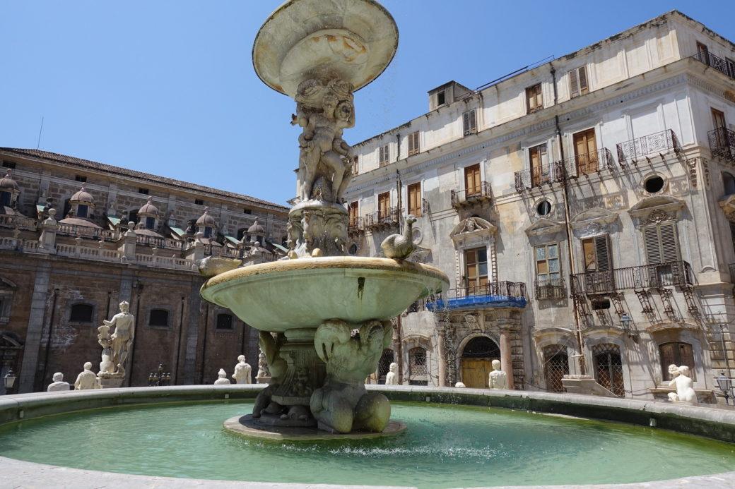 La Fontana del Ventaglio a Palermo